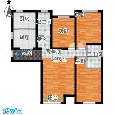 京西・金泰丽湾132.00㎡3C户型3室2厅2卫
