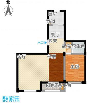 左岸尊邸户型1室1厅1卫1厨