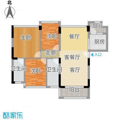 怡安皇庭103.00㎡G户型3室1厅2卫1厨