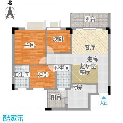 友田碧云轩91.00㎡7~11栋2~10层03户型3室2厅2卫