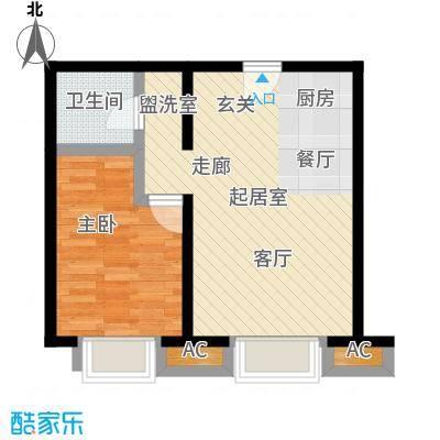 卓然京都51.00㎡G2户型1室1厅1卫