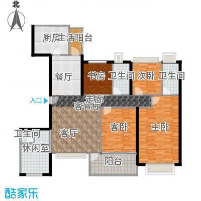 丹梓龙庭C/B栋奇数层户型4室1厅3卫1厨