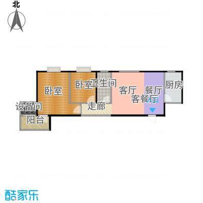 金泰怡景花园88.00㎡B11户型两室两厅一卫户型2室2厅1卫