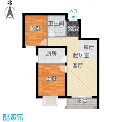 世纪龙庭二期87.00㎡E1户型2室2厅1卫