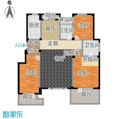 金石城165.00㎡C5户型 三室二厅二卫户型3室2厅2卫