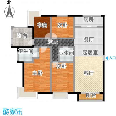 北京城建・世华泊郡165.00㎡4号楼户型3室2厅2卫