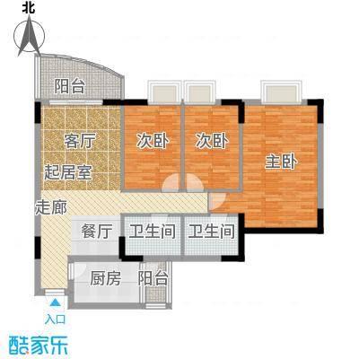 三正世纪豪庭104.60㎡户型3室2卫1厨
