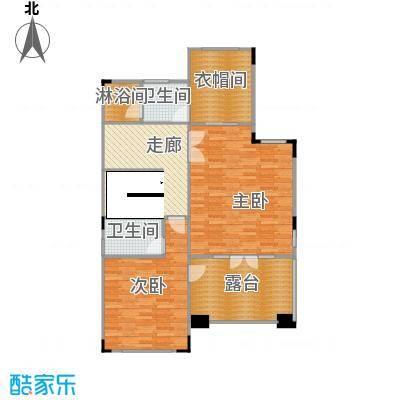 帝景山庄比华利山双拼别墅M型二层户型2室2卫