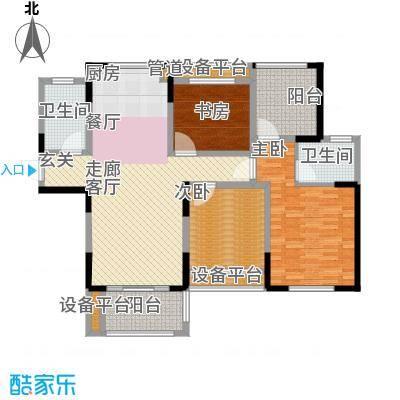 嘉禾尚郡125.00㎡C户型3室2厅2卫125平米户型3室2厅2卫