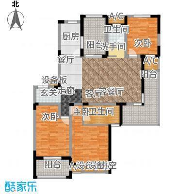 荣尚花苑142.00㎡G户型3室2厅2卫X