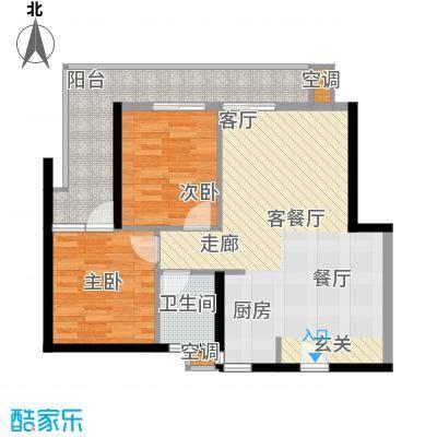 第一国际三期户型2室1厅1卫