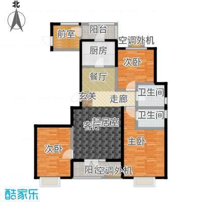 中建御邸世家户型3室2卫1厨