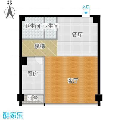 星海大观98.33㎡二室半二厅二卫户型