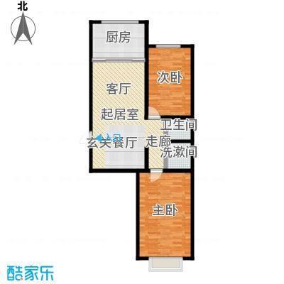 观澜国际105.91㎡A区19号楼东户型2室2厅1卫CC