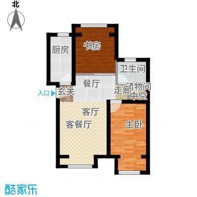 中海御鑫阁91.00㎡YA户型2室1厅1卫1厨