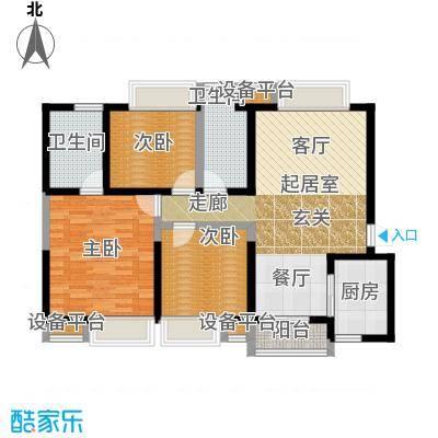 曲江紫汀苑2-D户型图户型