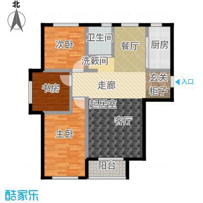 连大文润金宸101.00㎡三房二厅一卫户型