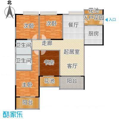 睿山157.00㎡D栋01单位户型4室2卫1厨
