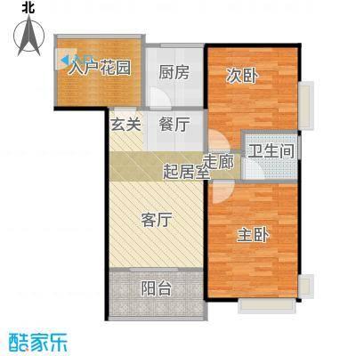 东海阳光67.02㎡户型2室1卫1厨
