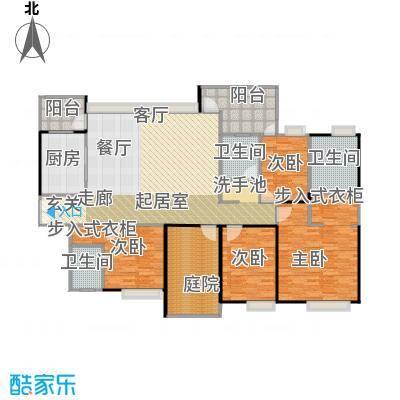 中信森林湖兰溪谷180.00㎡兰溪谷8栋户型4室3卫1厨