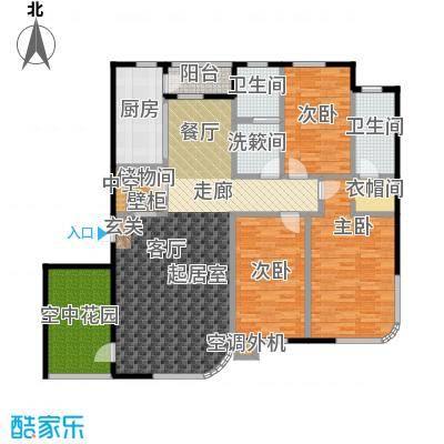 慧谷阳光170.00㎡三室二厅户型
