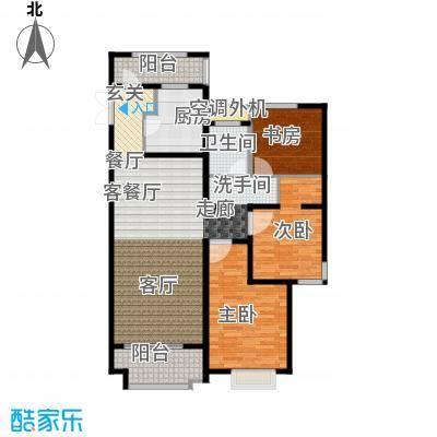 绿地白金汉宫118.26㎡A1、A2、A3、A4、A5、A6楼B1户型三房两厅一卫118.26平米户型3室2厅1卫