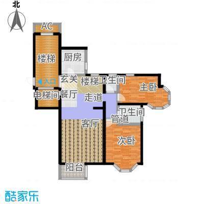 大宁山庄115.00㎡大宁山庄户型图二期A10戊区两室两厅一卫(5/8张)户型10室