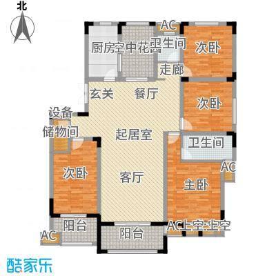 荣尚花苑164.00㎡H户型4室3厅2卫QQ