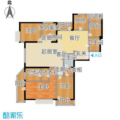 招商钻石山A01户型 4室2厅3卫 240平户型