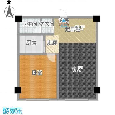 蓝海公寓1室2厅1卫1厨户型