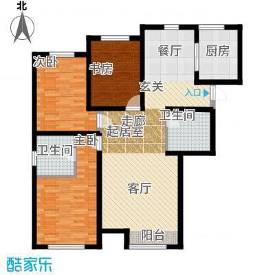京西・金泰丽湾140.00㎡3A户型3室2厅2卫