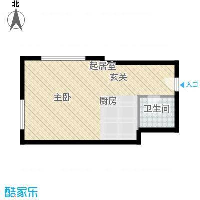 雅都42.91㎡A户型1室1厅1卫