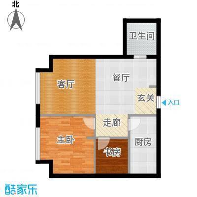 星海大观98.00㎡\\2室2厅1卫面积约98平米户型