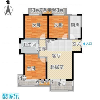 荣盛楠湖郦舍108.00㎡D1栋A户型3室2厅1卫CC