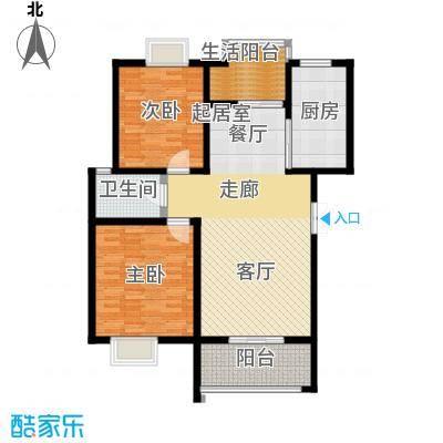 荣华水岸新城105.47㎡G户型 两室两厅一卫户型2室2厅1卫