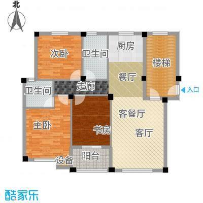 远洲国际城112.69㎡三室两厅两卫户型3室2厅2卫