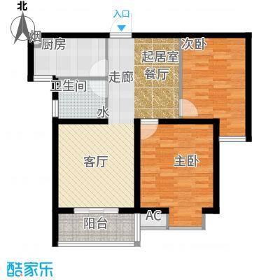 凯旋城88.00㎡凯旋城户型图凯旋城六期2室2厅1卫88.00㎡(7/21张)户型2室2厅2卫