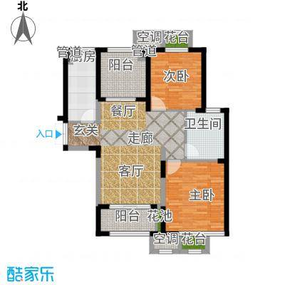 置地青湖语城置地青湖语城户型图主打的86.5平户型(8/8张)户型10室