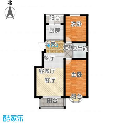 亲亲城89.27㎡A-3户型2室2厅1卫