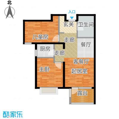 金隅・观澜时代86.00㎡G10户型2室2厅1卫