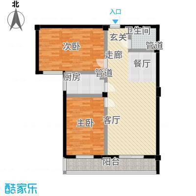 太子花苑96.00㎡3号楼B户型2室2厅1卫
