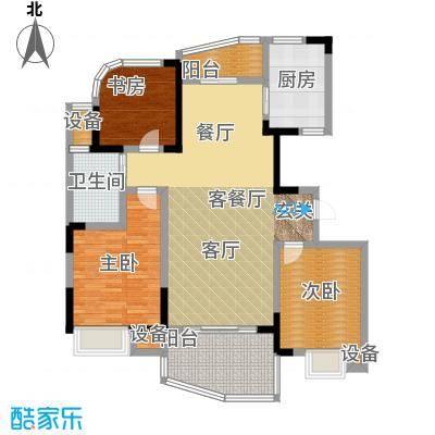 天翼御品天翼御品户型图C2户型三房两厅一卫(9/9张)户型10室