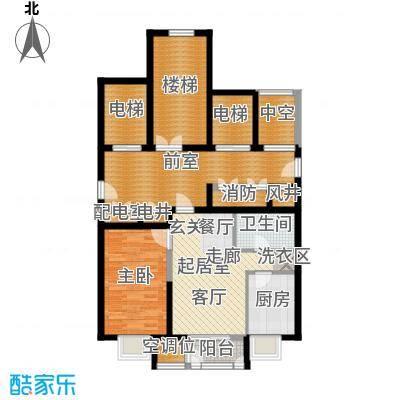 天房美域豪庭02户型1室2厅1卫