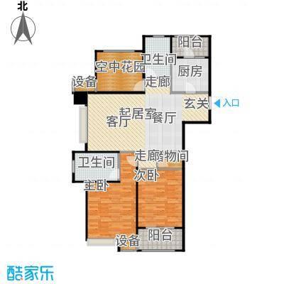 九龙仓繁华里123.00㎡G1户型2室2厅1卫