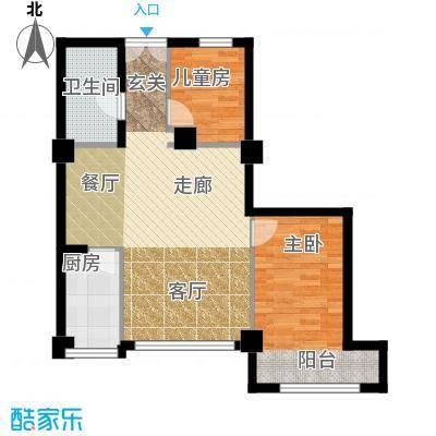 长江杰座长江杰座户型图两房两厅一厨一卫87平米(3/4张)户型2室2厅1卫