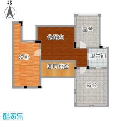 阳光地中海电梯洋房D 阁楼55.08㎡户型