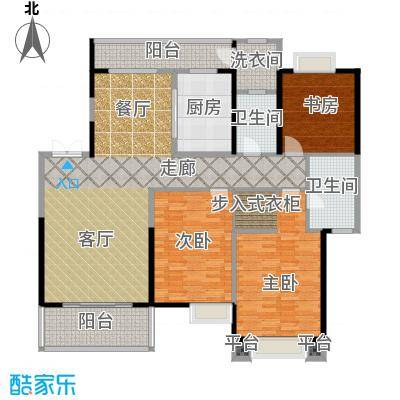 紫薇永和坊171.00㎡极境户型16号楼户型3室2厅2卫