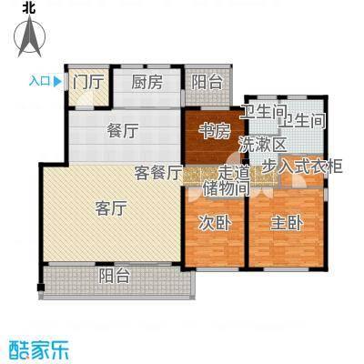 协信阿卡迪亚167.21㎡18-23#洋房D6户型2室2厅1卫