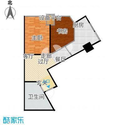 府上和平82.60㎡B1户型 两室一厅一卫户型2室1厅1卫