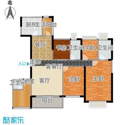 丹梓龙庭C/B栋偶数层户型4室1厅3卫1厨